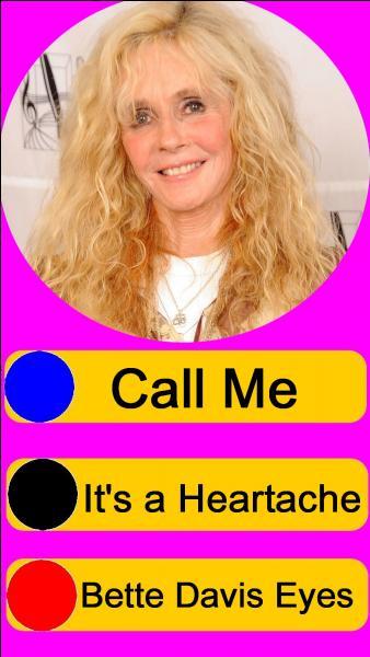 Sur quel bouton, allez-vous appuyer pour écouter Kim Carnes ?