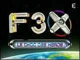 """Sur quel thème portaient les dessins animés diffusés dans l'émission """"F3X"""" sur France 3 ?"""