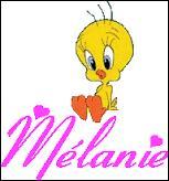 Quelle est la première lettre du prénom 'Mélanie' ?