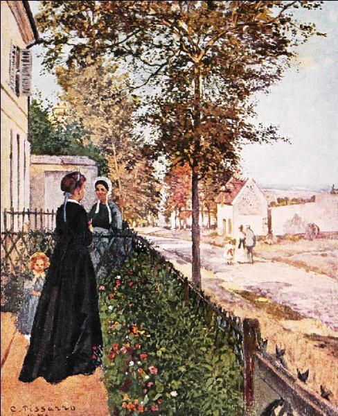 """Qui a peint """"La route de Rocquencourt"""" ?"""