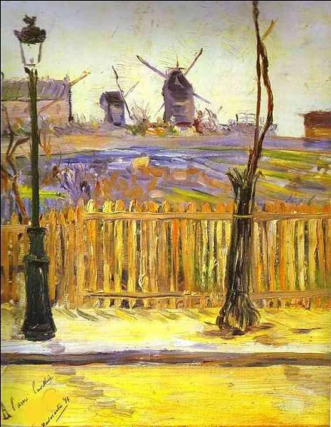 """Qui a peint """"Rue Caulaincurt, moulins à Montmartre"""" ?"""