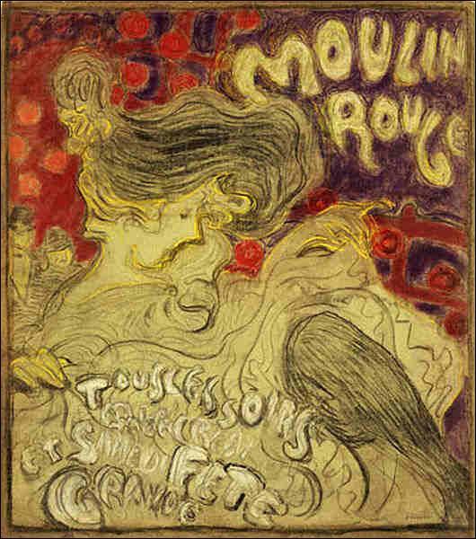 """Qui a réalisé l'affiche """"Moulin Rouge"""" ?"""