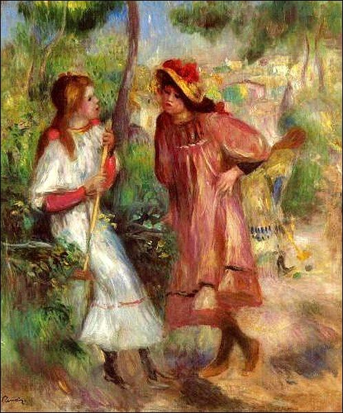"""Qui a peint """"Deux femmes dns le jardin à Montmartre"""" ?"""