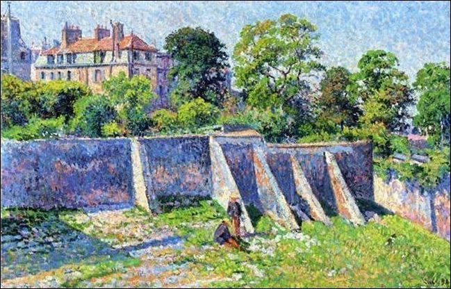 """Qui a peint """"Jardin vu de la rue des saules"""" ?"""