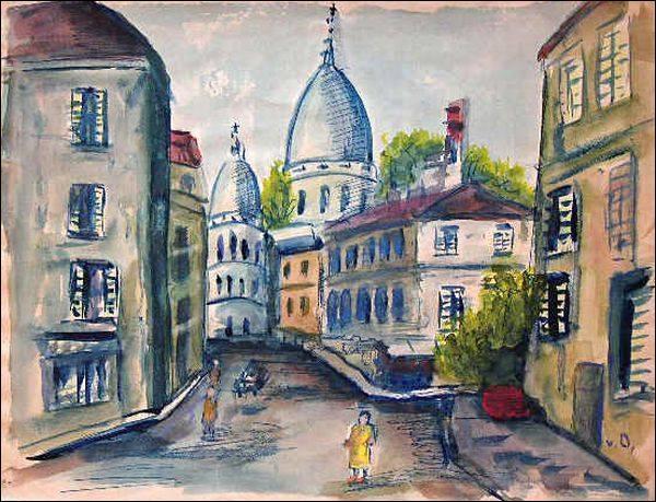 """Qui a peint """"Montmartre et le Sacré-Coeur"""" ?"""