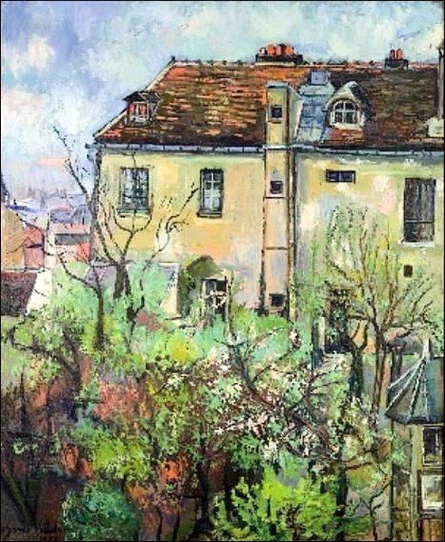 """Qui a peint """"Le jardin de la rue Cortot à Montmartre"""" ?"""