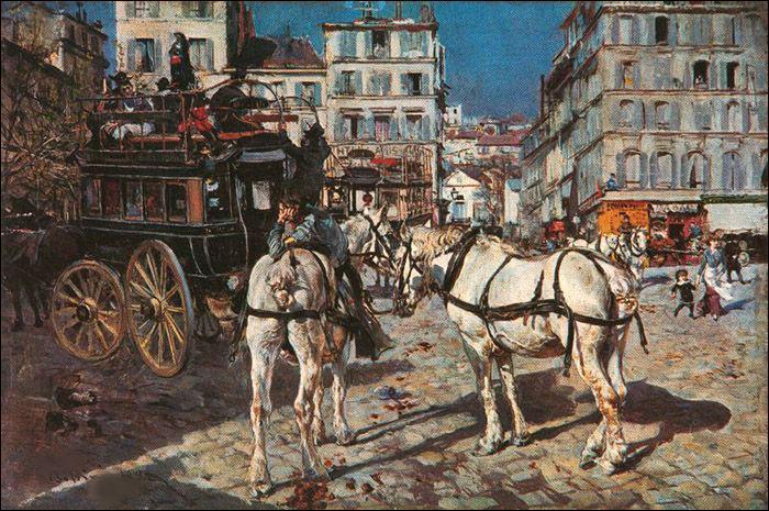 """Qui a peint """"L'omnibus, place Pigale"""" ?"""