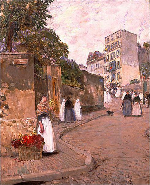"Qui a peint ""Rue de Montmartre"" ?"
