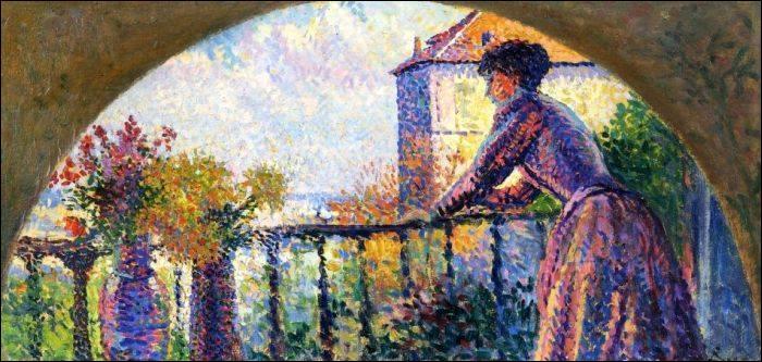 Qui a peint son épouse au balcon de la rue Cortot ?
