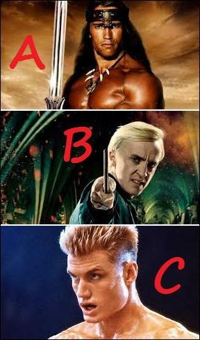 Lequel de ces anciens héros musclés a un point commun flagrant avec le jeune sorcier de la proposition B ?