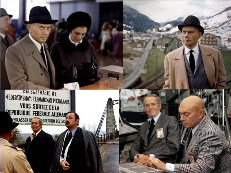 C'est un film d'espionnage franco-germano-italien. Il a été réalisé par Henri Verneuil.Jean Desailly, Yul Brynner, Henry Fonda, Dirk Bogarde, Philippe Noiret, Michel Bouquet… font partie de la distribution.Un officier du KGB demande l'asile et se sauve aux USA. Mais pourquoi quitte-t-il l'URSS ! La CIA enquête ! Va-t-elle le retourner ?Quel est ce film ?