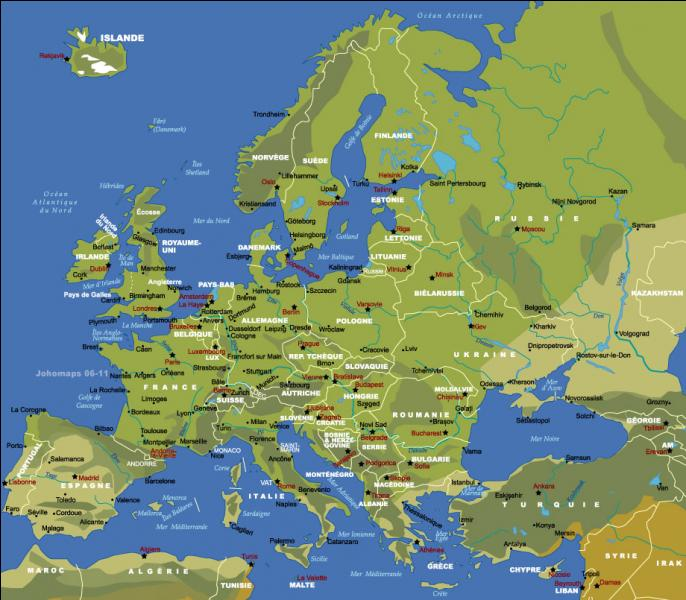 Quelle capitale ne se situe pas en Europe ?