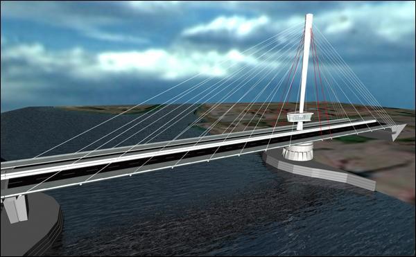 Lequel de ces ponts n'est pas un pont à haubans ?