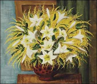 """Qui a peint """"Lys et mimosas"""" ?"""