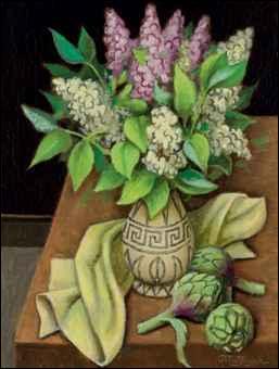 """Qui a peint """"Bouquet de lilas et artichauts"""" ?"""