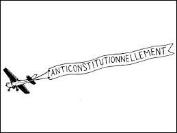 """Quel est l'antonyme du mot : """"anticonstitutionnellement"""" ?"""