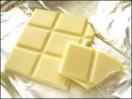 Quelle est la particularité du chocolat blanc ?