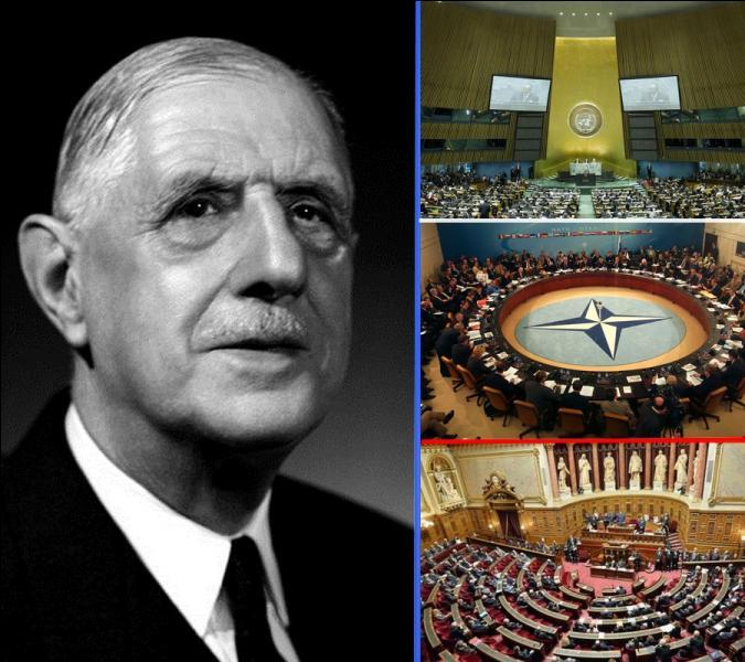 Quelle institution le général de Gaulle a-t-il désigné dans un discours d'une façon péjorative « Ce grand machin» ?