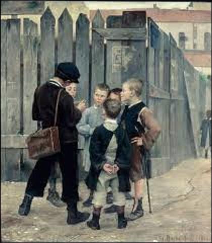 """Femme sculptrice et peintre du mouvement réaliste (1858-1884), féministe, plus connue sous le pseudonyme de """"Pauline Orrel"""", elle écrit des articles dans la revue """"La Citoyenne d'Hubertine Auclert"""" en 1881. Atteinte de la tuberculose, elle s'éteint précocement à l'âge de 25 ans, en laissant à la postérité des toiles comme cette huile s'intitulant """"Le meeting"""", en 1884, mais quel est son nom ?"""