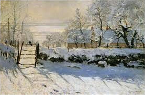 """Cette huile sur toile (H : 0, 89 m x L : 1, 30 m) s'intitulant """"La pie"""", a été peinte entre 1868 et 1869, mais quel artiste impressionniste en est l'auteur ?"""