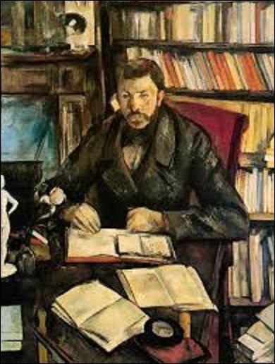"""Huile sur toile s'intitulant """"Gustave Geffroy"""" (critique d'art, journaliste, historien et romancier, qui fait partie des 10 membres fondateurs de l'Académie Goncourt), peinte entre 1895 et 1896, est l'oeuvre d'un artiste impressionniste (1839-1906), qui flattait de plusieurs articles élogieux concernant sa peinture, décide pour le remercier de lui faire son portrait. Mais qui est ce peintre ?"""