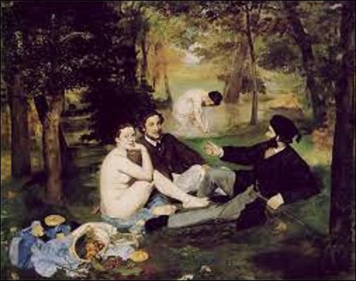 """Comptant près de 3 300 peintures, dont environ 440 du mouvement impressionniste et environ le même nombre du mouvement post-impressionniste, ce musée détient l'une des plus grandes collections au monde de ce style. D'ailleurs, quel peintre impressionniste et réaliste a fait scandale, en 1863, avec cette huile sur toile (H : 2, 07 m x L : 2, 65 m) intitulée """"Le Déjeuner sur l'herbe"""" ?"""