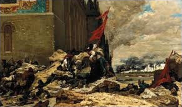 """Maintenant que vous en savez plus sur ce musée, consacrons-nous aux œuvres qu'il renferme. Quel peintre et illustrateur orientaliste (1843-1919) a peint cette huile sur toile, en 1871 appelée """"L'Incendie des Tuileries"""", et qui retrace un épisode de la Commune ?"""