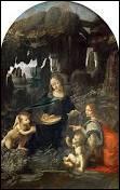 """Intitulé """"La Vierge aux rochers"""", ce tableau a été peint par ..."""