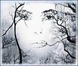 C'est l'hiver. Il pend au bout du nez du Bouddha. C'est...