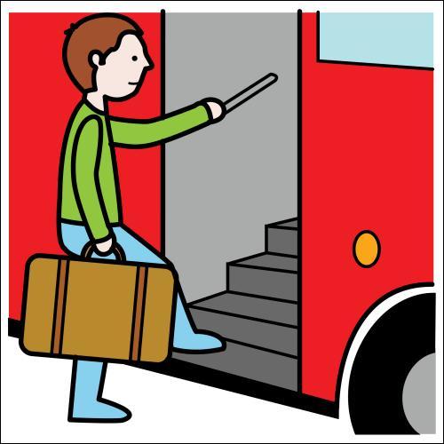 """Traduis : """"Je vais à l'école en bus tous les matins""""."""