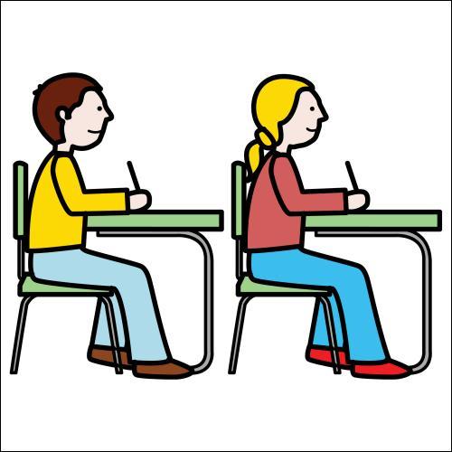 Une prof, voyant que les élèves de sa classe ne participent pas beaucoup, leur demande :