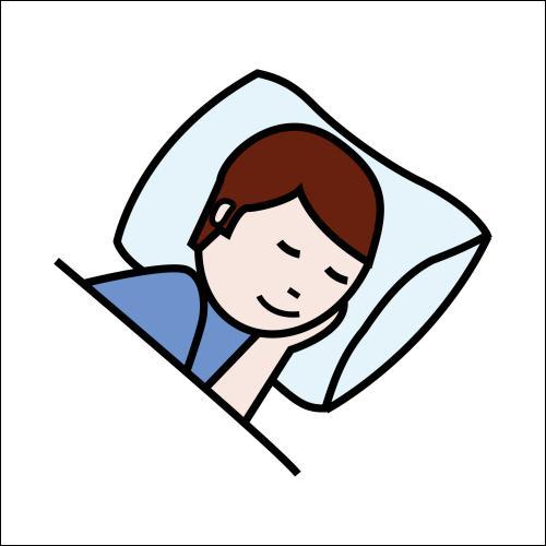 Tu ne dors pas très bien la nuit. Traduis :