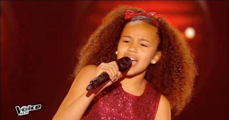 Quelle chanson cette candidate a-t-elle chantée aux auditions à l'aveugle ?