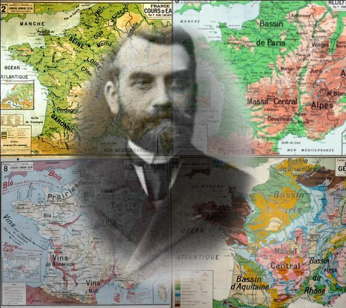 On lui doit beaucoup à la connaissance des régions, grâce à ses cartes murales scolaires de notre enfance. Quel est ce géographe français de renom ?