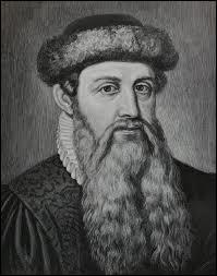 Quelle invention a créé Johannes Gutenberg au XVe siècle ?