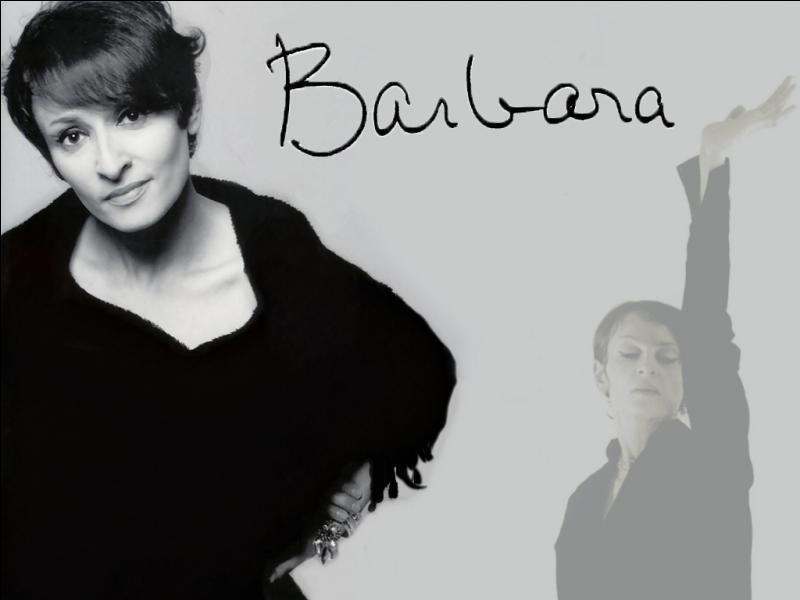 Quelle couleur n'appartient pas aux paroles de la célèbre chanson de Barbara : « L'aigle noir » ?