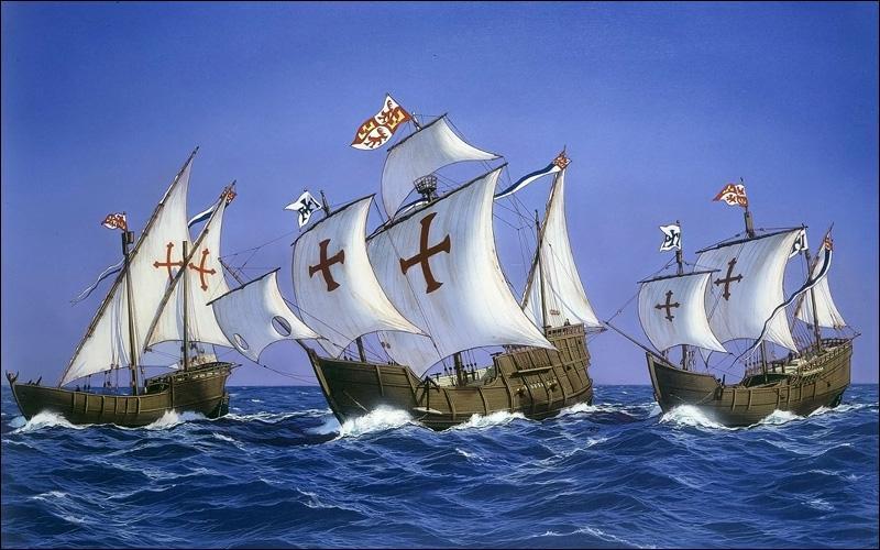 Un seul des trois bateaux de Christophe Colomb n'est pas rentré en Europe lors de sa traversée de l'Océan atlantique. Lequel ?