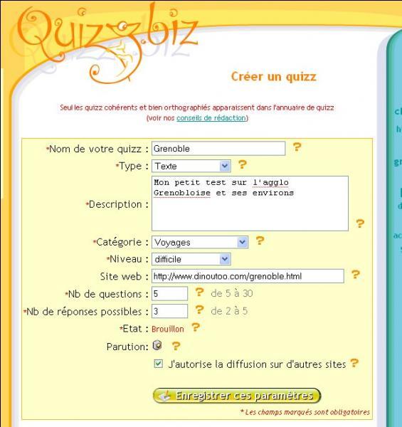 Comment faites-vous pour créer un quiz ? -> Cette question est-elle bien orthographiée ?