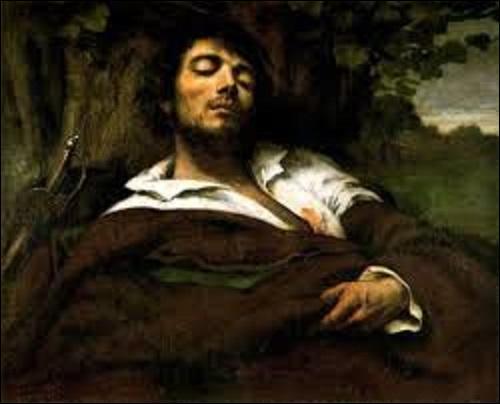 """Quel peintre chef de file du courant réaliste a créé cet autoportrait appelé """"L'homme blessé"""", entre 1844 et 1854 ?"""