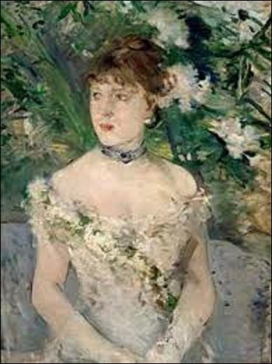 """Quelle femme impressionniste (1841-1895) a peint """"Jeune femme en toilette de bal"""" (H : 0, 71 m x L : 0, 54 m), en 1879 ?"""
