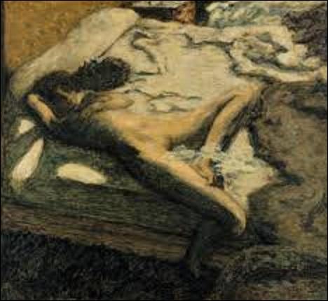 """Quel est le nom de ce peintre postimpressionniste (1867-1947), membre du groupe des nabis, qui a peint cette huile sur toile intitulée """"L'indolente"""" ou encore """"Femme assoupie sur un lit"""", en 1899 ?"""