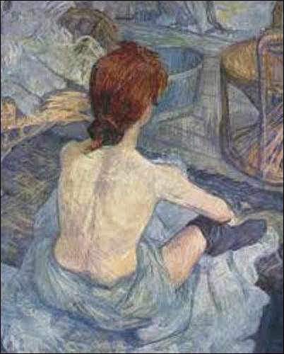 """""""Rousse"""" dit aussi """"La Toilette"""" est une huile sur carton, peinte en 1889. Mais quel postimpressionniste (1861-1901) a créé cette œuvre ?"""