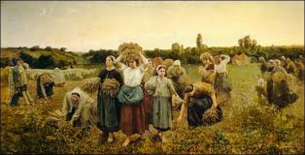 """Quel peintre (1827-1906) de formation académique, réaliste, puis naturaliste, aussi poète, crée cette huile sur toile nommée """"Le rappel des glaneuses"""", en 1859 ?"""