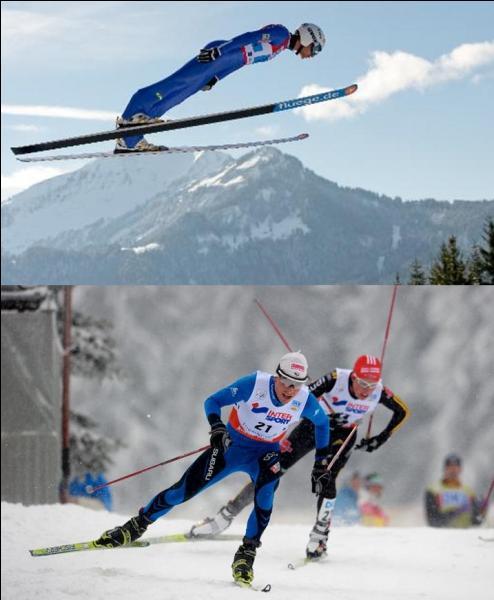 C'est un des sports majeurs de la Norvège, pays créateur de cette discipline.A vous de trouver quelles épreuves sportives regroupent ce que l'on appelle « combiné nordique » !