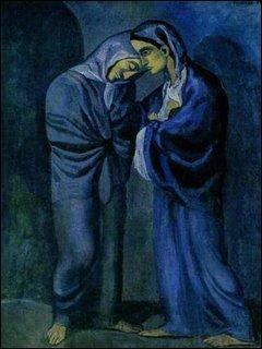 Quel peintre a connu, de 1901 à 1904, sa période bleue ?
