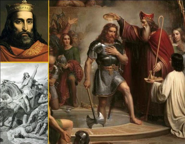 Selon les historiens, quelle bataille gagnée contre les Alamans, est associée à la conversion du roi des Francs Clovis au christianisme par son baptême à Reims ?