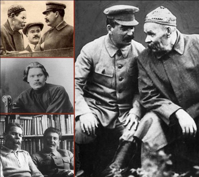 Proche de Lénine et des révolutionnaires, choisi par Staline pour être le représentant du réalisme socialiste, quel est l'écrivain russe dont Staline porta le cercueil lors de ses funérailles sur la place Rouge le 20 juin 1936 ?