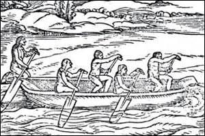 Le tronc qu'ils creusaient pour en faire un moyen de navigation était sujet à se renverser. Que devaient-ils faire pour le récupérer ?