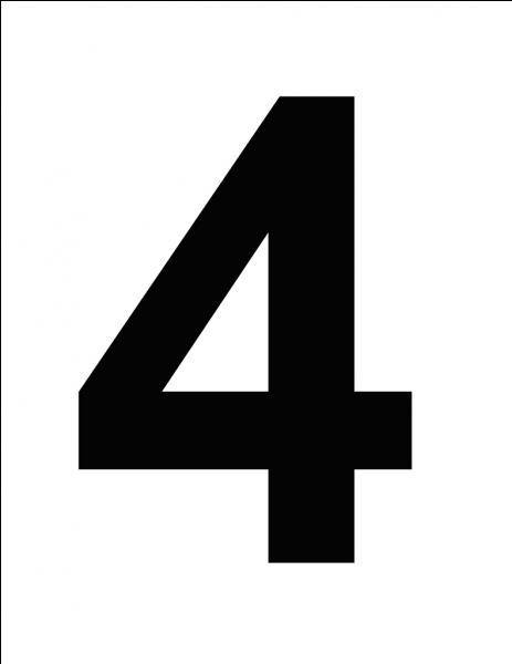 En Chine, le chiffre 4 porte bonheur.