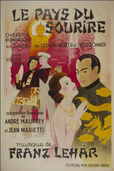 """Dans """"Le pays du sourire"""" de Franz Lehàr, dont l'action se déroule en Chine, le nom du héros évoque un chanteur français bien connu d'aujourd'hui : lequel ?"""